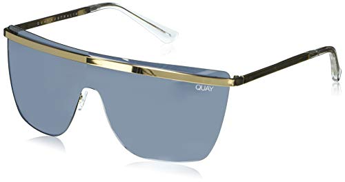 Quay Women's Get Right Sunglasses, Gold/Silver, One Size