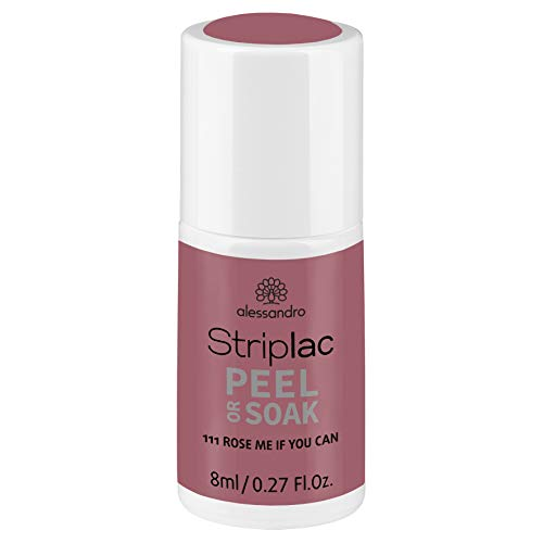 alessandro Striplac Peel or Soak Rose me if you can – LED-Nagellack in dunklem Rosanude-Ton – Für perfekte Nägel in 15 Minuten – 1 x 8ml