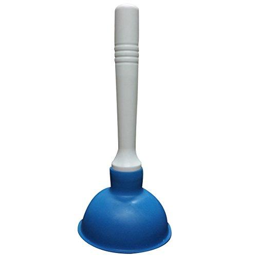Condello Casa Pömpel Saugglocke Abfluss Kolben Büster WC Stößel Pümpel Sauger Stampfer Bagger Reiniger für Bad Toilette, Küche Waschbecken, Blau