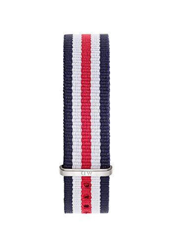 Daniel Wellington Classic Canterbury, Blau-Weiß-Rot/Silber Uhrenarmband, 20mm, NATO, für Herren