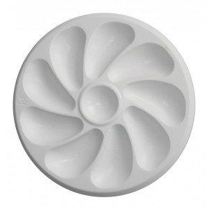 Austernteller, Polypropylen, Weiß, für 9 Stück, 9531