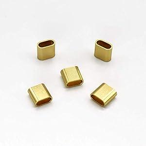 5 bis 100 Stück Festivalbändchen goldene Ersatz Verschlüsse Aluminiumplombe