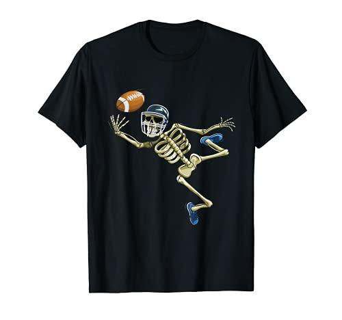 Football americano scheletro Halloween uomini ragazzi calcio fan Maglietta