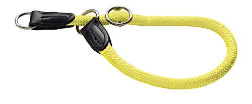 HUNTER Freestyle Dressurhalsung, Hundehalsband, Zugstopper, robust, wetterfest, 50 (M-L), neongelb