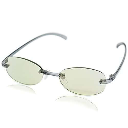 (エイトトウキョウ)eight tokyo 老眼鏡 ブルーライトカット おしゃれ メンズ レディース 兼用 軽量 かわいい 1.5 UVカット シニアグラス リーディンググラス[ 鯖江メーカー企画 ]クリアグレー/ライトグリーン RDFTR-SM+1.5