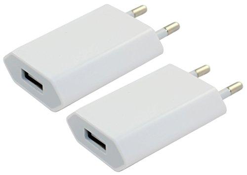 IPRIME 2X Premium 1A Netzteil Netzstecker Universal Ladegerät Slim Charger für alle USB Kabel und Smartphone, Handy, Tablet, MP3 Player, Navie etc - Weiß