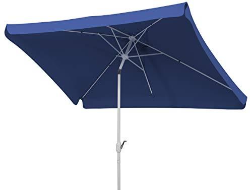 Schneider Sonnenschirm Oslo, blau, 300x200 cm rechteckig, Gestell Aluminium/Stahl, Bespannung Polyester, 5.3 kg