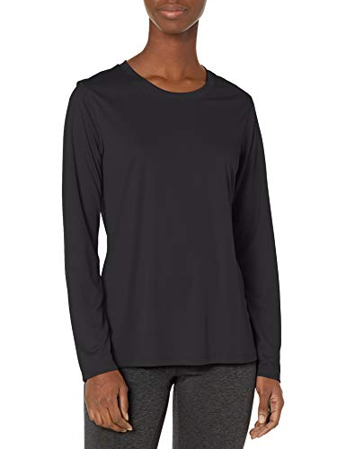 Hanes Women's Sport Cool Dri Performance Long Sleeve Tee, Black, Large