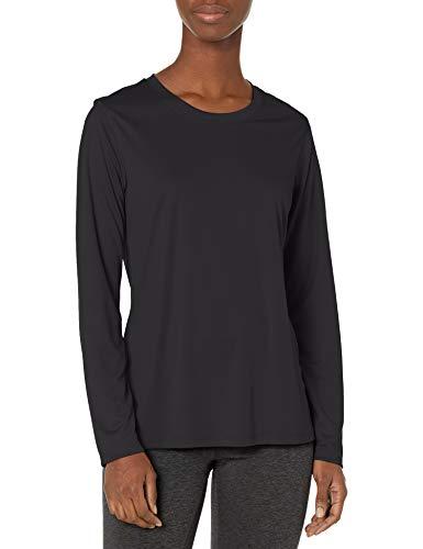 Hanes Women's Sport Cool Dri Performance Long Sleeve Tee, Black, X Large