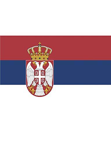 """TrendClub100® Fahne Flagge """"Serbien Serbia RS"""" - 150x90 cm / 90x150cm"""