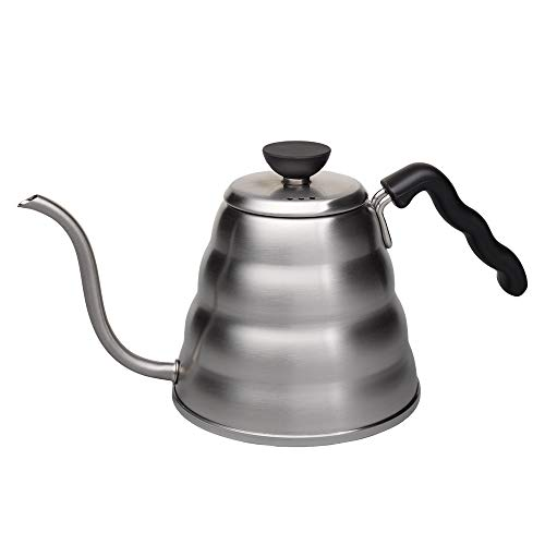 Hario Stainless Steel V60 Buono Gooseneck Coffee Kettle, Stovetop (1.2 L / 1200 ml)