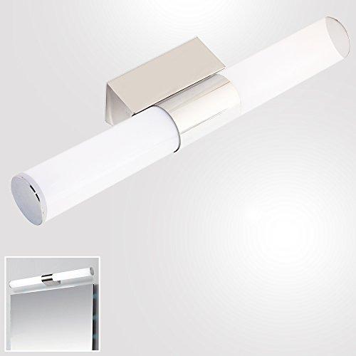 ELINKUME Lampada Bagno Parete Specchio,Bianco Freddo,40 LED SMD 2835,8W,6000-6500K,Acciaio inox Acrilico
