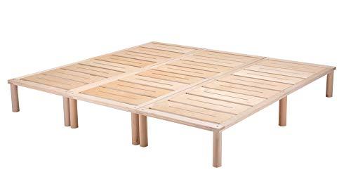 Gigapur G1 29012 Bett, Co-Sleeping, Birke Schicht-Holz, Bettrahmen Belastbar bis 195 kg, Natur, 210 x 200 cm