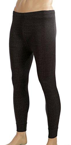Double hommes femmes speed pantalon unisexe thermo, sous-vêtement de ski taille gris Medium Gris - Gris
