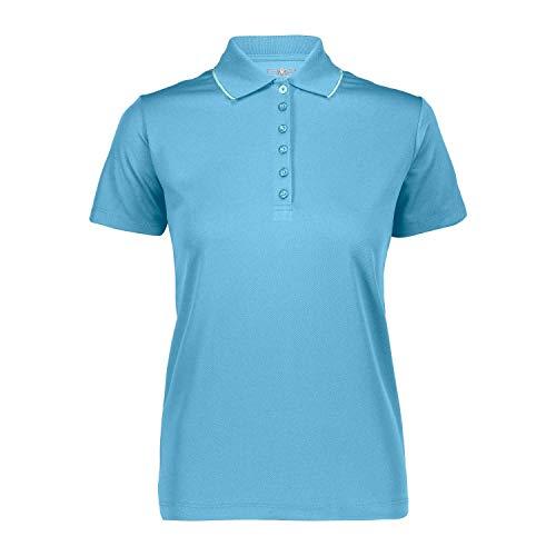 CMP Damen Polo Poloshirt, Light-Curacao, 42