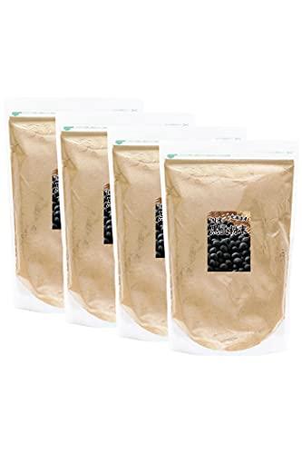 自然健康社 黒豆粉末 1kg×4個 きな粉 きなこ 国産 無添加 業務用 黒大豆 パウダー チャック付き袋入り