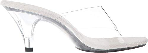 Fabulicious BELLE-301, Damen Offene Sandalen mit Keilabsatz, Transparent (Clr/Clr), 37 EU (4 UK)