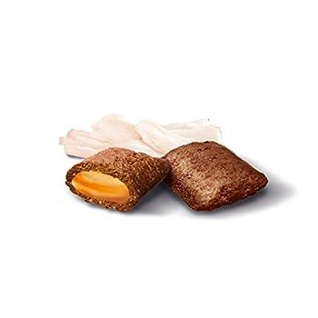 GimCat Nutri Pockets - Snack croustillant pour chats, avec une farce crémeuse et des ingrédients fonctionnels - Sans sucre ajouté - Mélange vitalité à la taurine - 1 sachet (1 x 150g)