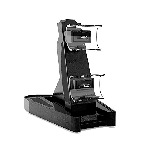 AXDNH para La Base del Cargador del Control De PS5 Base De Estación De Soporte De Carga USB Dual LED para Playstation 5 Joystick Gamepad Type-C Cargador Accesorios,Negro