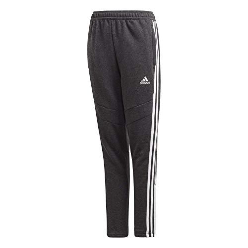 adidas Kinder Hose Tiro 19 Cotton Pant, Black Melange/White, 140, FN2339