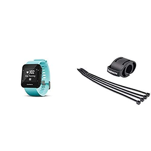 Garmin Forerunner 35 Watch and HRM-Tri Heart Rate Monitor, Frost Blue and Bicycle Mount Kit