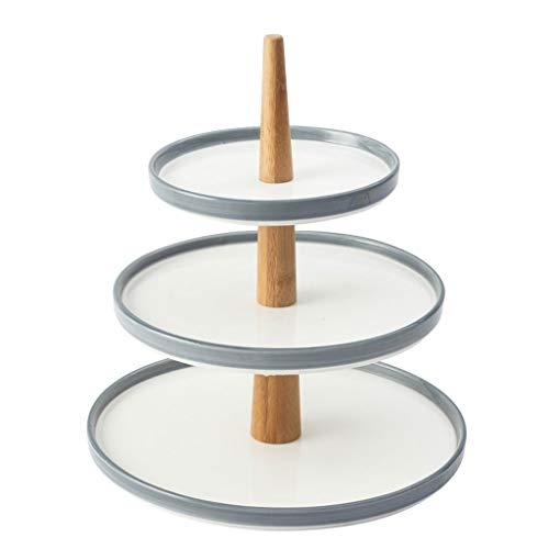 Soporte para Tartas Bandeja de fruta de cerámica Estante de postre Estante de pastel de múltiples capas Bandeja de fruta seca Bandeja de aperitivos Bandeja de pastel Plato de caramelo europeo Bandejas