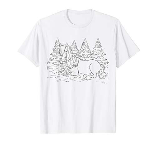 Mädchen Geschenk Pferde zum Ausmalen Kinder Pferd Malvorlage T-Shirt