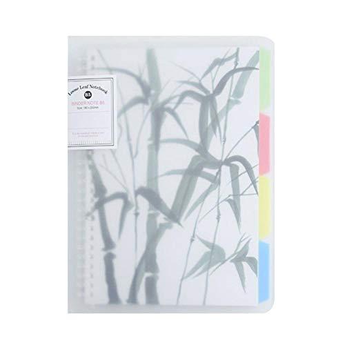 Chiyin Bloc de notas con espiral, tapa dura con separador, 90 páginas, papel grueso, ideal como diario, cuaderno de ideas, cuaderno de notas (G)