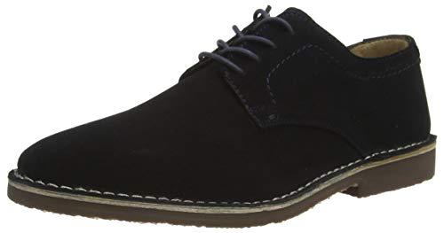 Hush Puppies Archie, Zapatos de Cordones Derby Hombre, Azul Marino, 40 EU