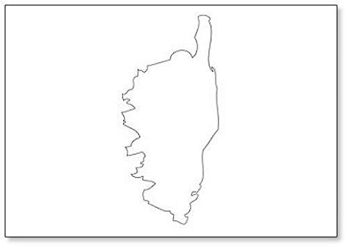 Corsica - Kaart Regio Frankrijk Koelkast Magneet