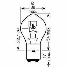 Glühbirne BA20D 12V 35/35W passend für Hondsa CBR 125, CG, MBX, MTX, MCX, NPS Zommer, SCV Lead, SFX, SGX Sky, SH Scoopy, SJ Bali, SXR, XL Varadero, XR 600