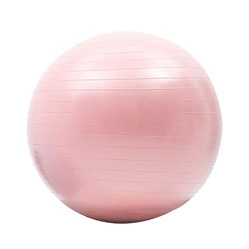 Pilates Ball, Yoga Ball, Anti-Burst-Gymnastikball, Sitzball, Bauchmuskeltraining, Rückentraining, Beckenkorrektur (hellblau, Hellrosa)