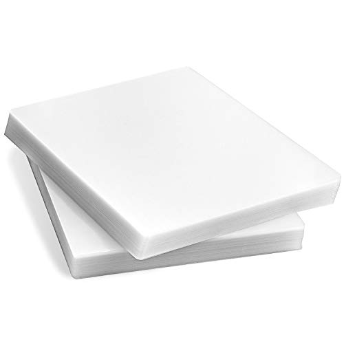 KTRIO Laminating Sheets, Holds 8.5 x 11 Inch Sheets 200 Pack, 3 Mil Clear...