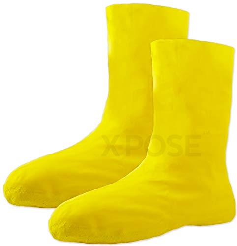 Hazmat Boot and Shoe Covers For Hazardous Materials - Explosives, Gases, Flammable Liquids, Peroxide and More – 2XL Yellow 12' Over the Shoe Protectors - by Xpose Safety