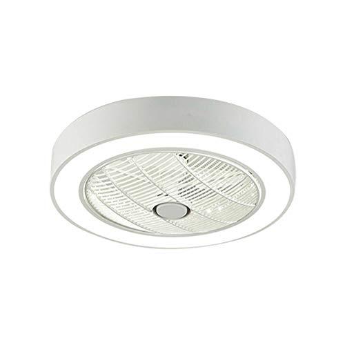 Ventilador de techo con iluminación moderna de techo, luz LED, mando a distancia, 36 W, 55 cm