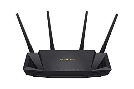 ASUS RT-AX58U - Router WiFi 6 AX3000 160Mhz Doble Banda Gigabit (OFDMA, MU-MIMO, 1024QAM, QoS, Cliente y Servidor VPN, Modo Punto Acceso, repetidor & Nodo AiMesh, AiProtection con Trend Micro)
