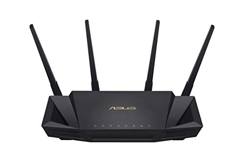 Asus RT-AX58U Home Office Router (Ai Mesh WLAN System, WiFi 6 AX3000, Gigabit LAN, AiProtection, USB 3.0, 160 MHz, VPN, PPTP, OpenVPN)