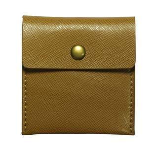 LIly 携帯灰皿 ポータブル レザー 革 ポケット サイズ カラー 6色 (ベージュ)