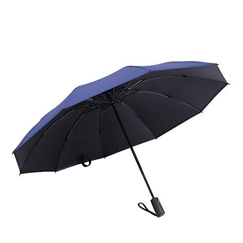 CEyyPD Paraguas paraguas plegable reversible paraguas automático 10 huesos paraguas paraguas resistente al viento compacto y ligero y cómodo