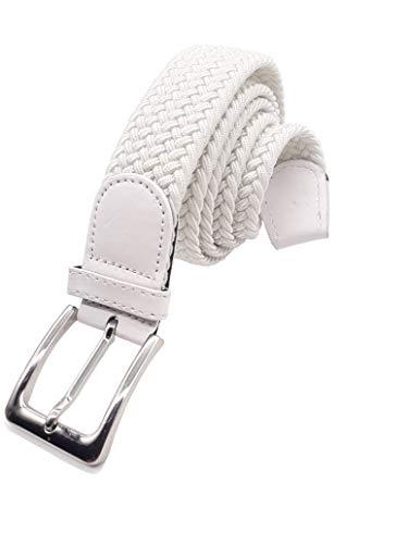 Matec 1, cintura elastica bianca, lunghezza totale 115 cm e larghezza 3,5 cm, elastica intrecciata ed elastica.