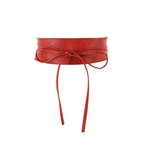 FASHIONGEN - Damen Taillengürtel Breiter Obi gürtel MICA - Rot, S-M