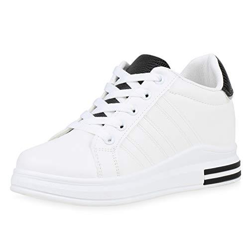 SCARPE VITA Dames Sneaker Wedges Pruik Turnschoenen Lederlook Schoenen Metalen Veters Keilsneaker Prints Vrijetijdsschoenen