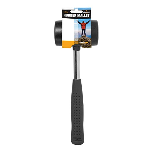 Milestone Camping 20420 12oz Rubber Mallet Sturdy Steel Handle Ideal For Putting Up Tents Canopies