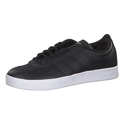 Adidas VL Court 2.0, Zapatillas Mujer, Negro (Core Black/Core Black/Silver Metallic 0), 38 2/3 EU