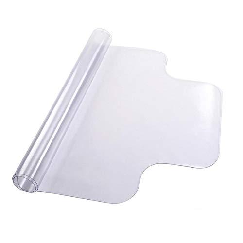 feiren Muebles Accesorios Protector de piso de PVC transparente con borde para suelos de madera dura, silla de escritorio de oficina en casa