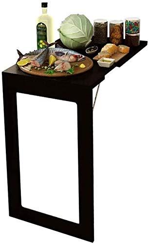 LAMTON Escritorio portátil pequeña Oficina de Madera de Pared abatibles Mesa Plegable Pared Colgante de Cocina Comedor Niños Mesa- Estudio Negro (Color : 74x45x74cm)