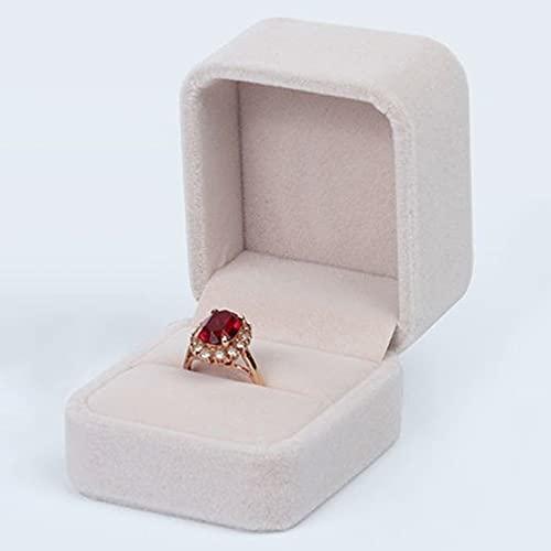 指輪ケース リングケース プロポーズ ジュエリー収納 携帯用 リングボックス おしゃれ 記念日 プレゼント (キャメル)