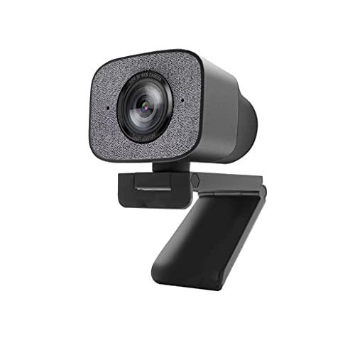 RYSF 1080P Webcam PC, 2K HDR Streaming Live Web Cámara con el ángulo de 90 Grados estéreo Doble para OBS/SKYPE/Zoom