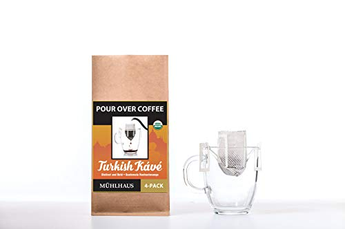(40% OFF Coupon) POUR OVER COFFEE, Turkish Kave Worlds Most Advanced Portable Organic Coffee 8Pack $8.99