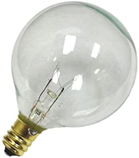 Sival G50 Globe Light Bulb, 7 Watts, candelabra (E12) base, 2